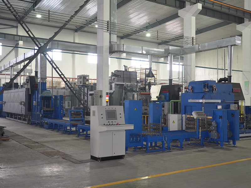 Austria AICHELIN double push plate carburizing quenching production line